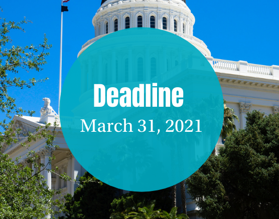 Deadline is March 31, 2021 (1)