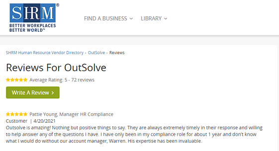 SHRM Reviews for OutSolve
